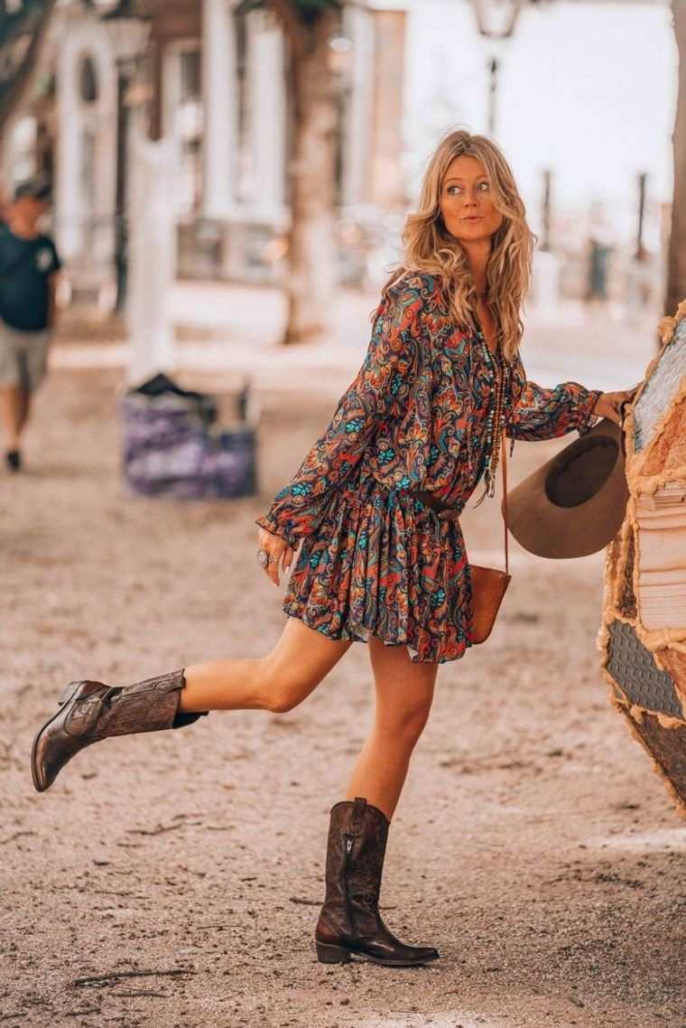 estilo hippie vestidos botas