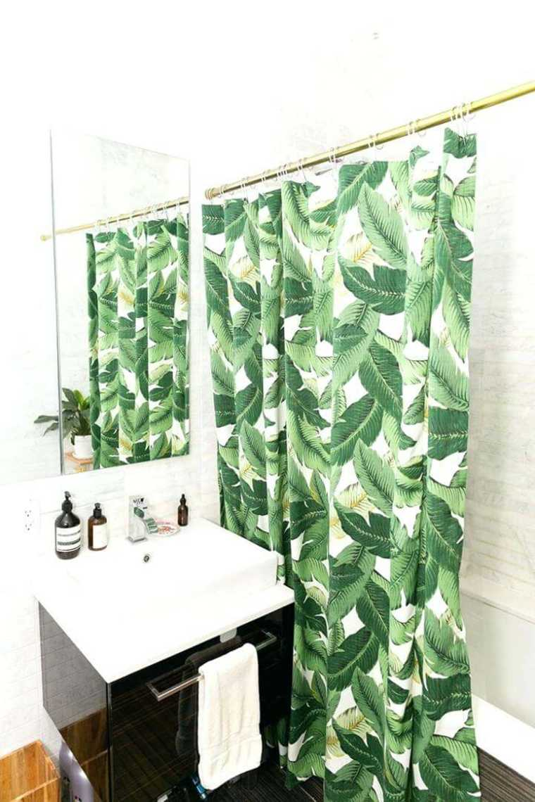 hojas-verdes-tropical-bano-lavabo