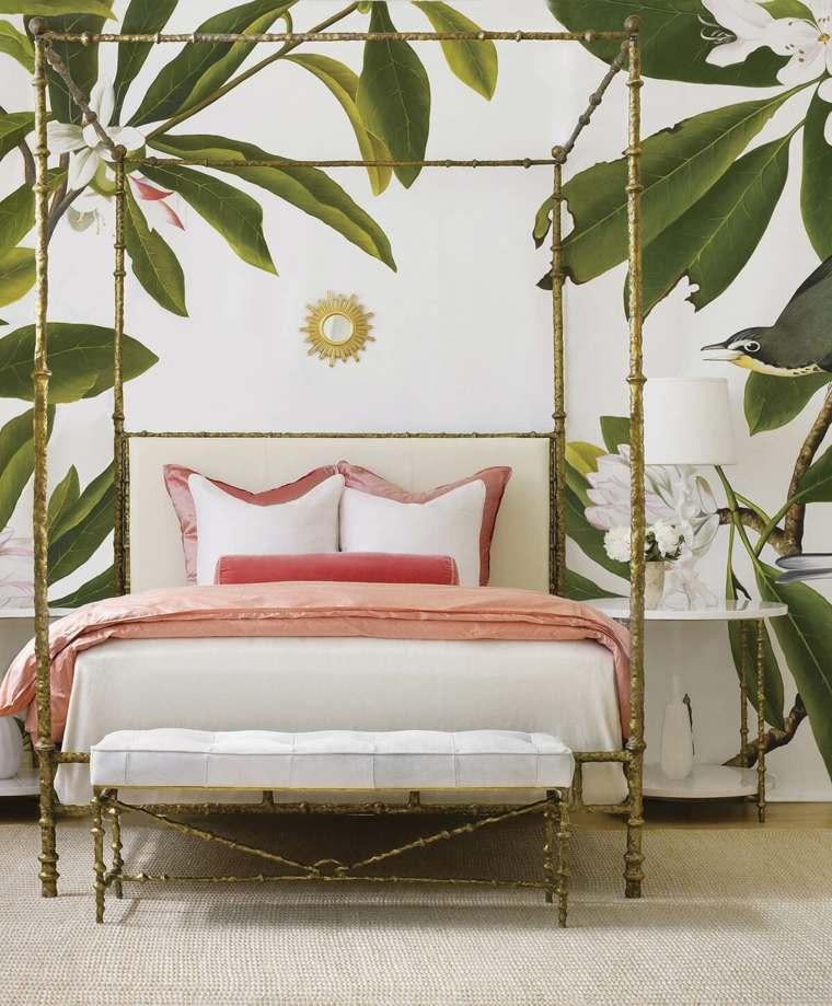hojas-verdes-tropical-cama-dosel