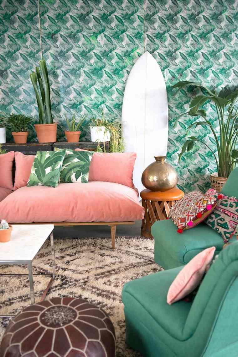 hojas-verdes-tropical-estilo-casa