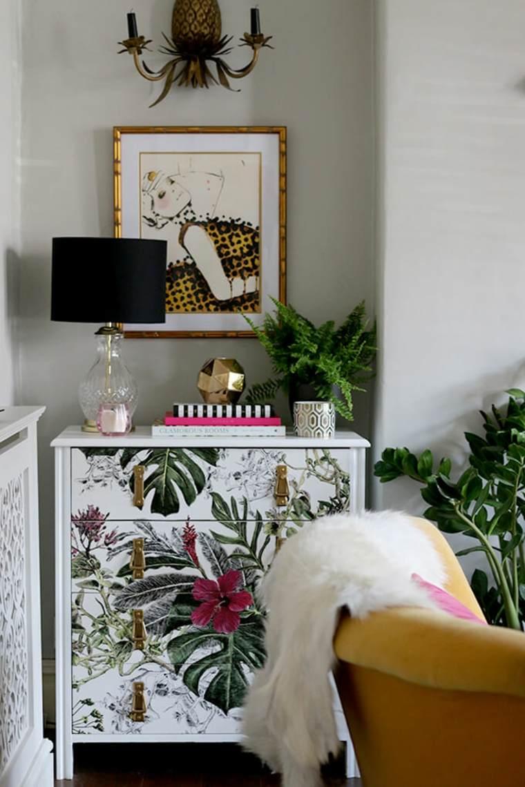 hojas verdes-tropical-muebles
