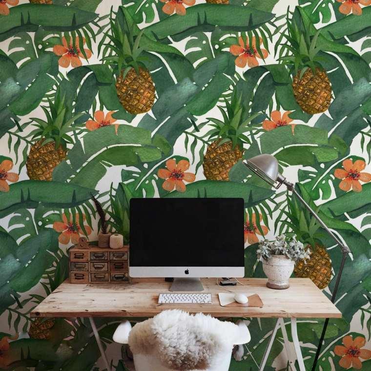 hojas verdes-tropical-oficina-casa