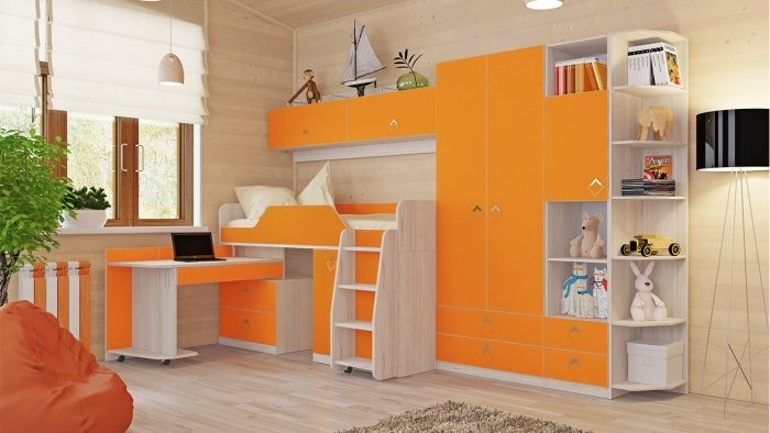ideas-muebles-color-naranja-ninos