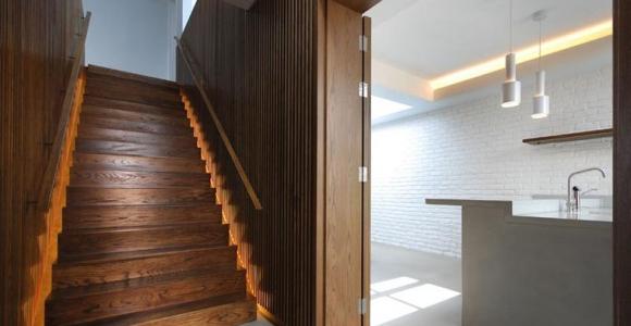 iluminación escalera patalab architecture