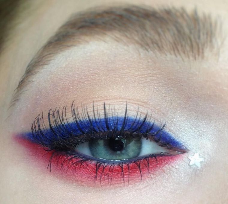 maquillaje-azul-rojo