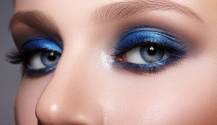 maquillaje de ojos-azul-ideas