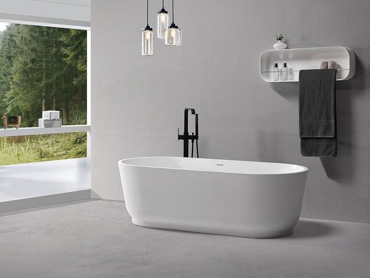 muebles para baño minimalistas-banera-ideas