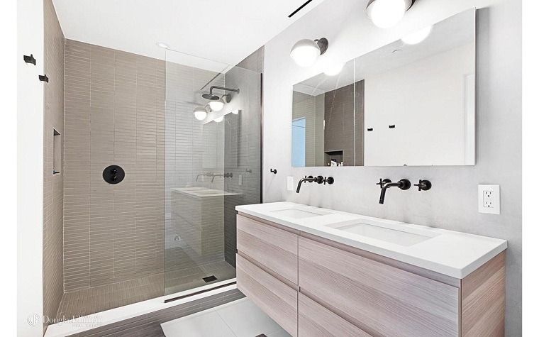 muebles para baño minimalistas beige