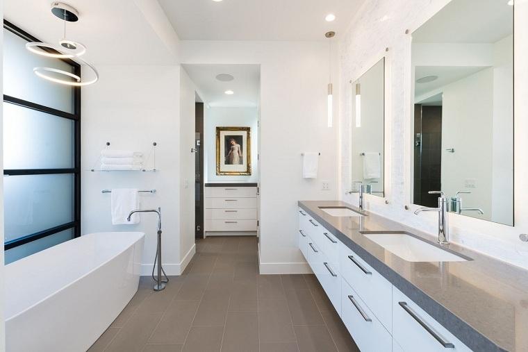 muebles para baño minimalistas blanco