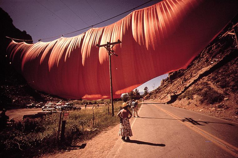obras de arte valley curtain