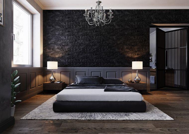 Paredes de declaración en color negro – Un toque elegante para tu dormitorio