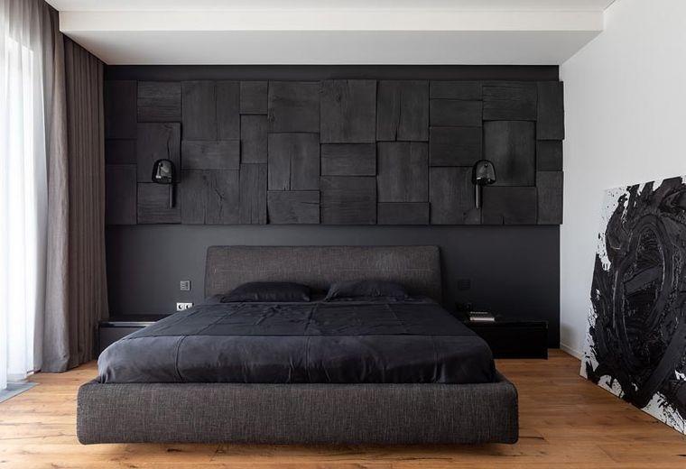 paredes madera ennegrecida