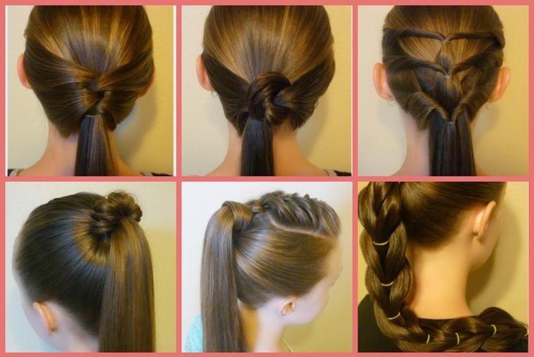 peinados con cola de caballo estilos