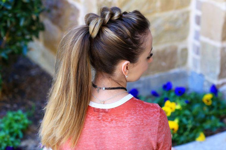 peinados con cola de caballo llamativos