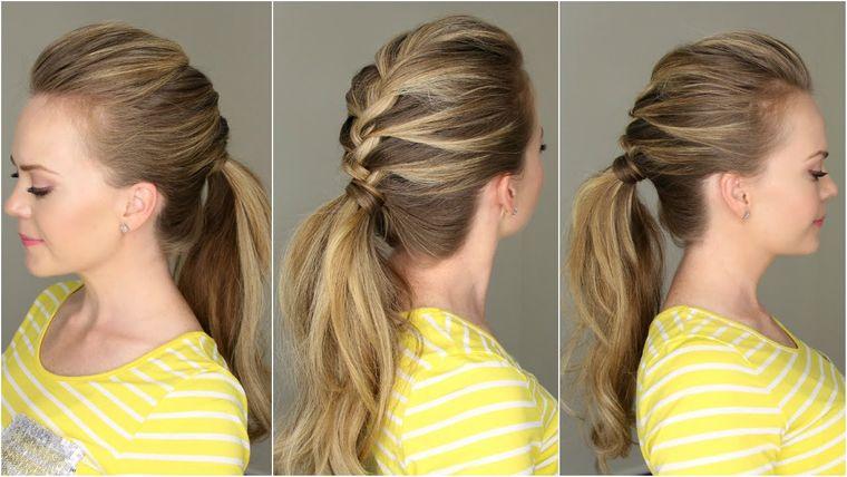 peinados con cola de caballo practicos