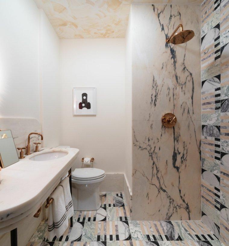 piedra-pared-ducha-bano