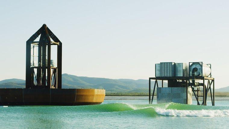 piscina con olas funcionamiento