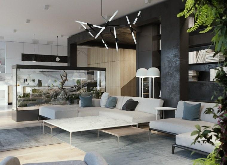 salones-modernos-minimalistas-blanco-negro