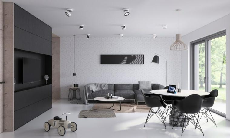 salones modernos minimalistas-industrial