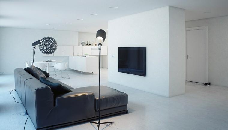 salones-modernos-minimalistas-lampara-bola