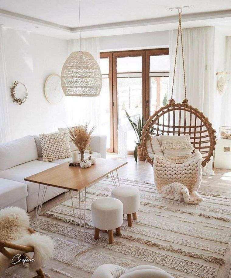salones modernos minimalistas-materiales-madera
