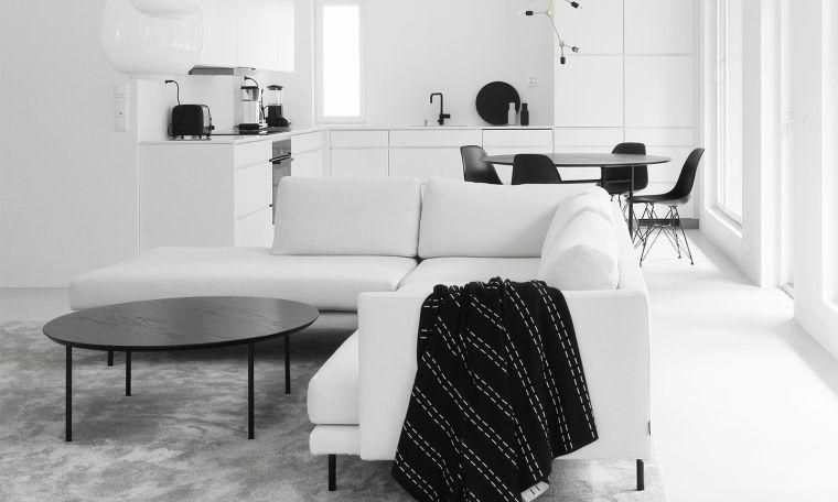 salones modernos minimalistas-muebles-blancos