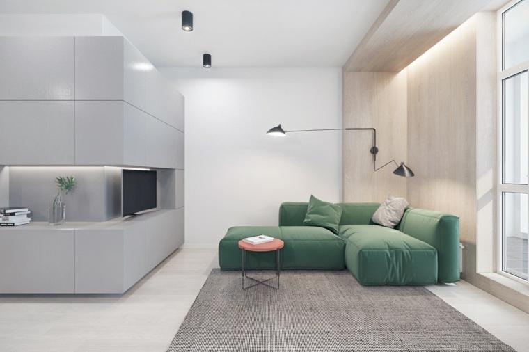 sofa-verde-salon-moderno-minimalista