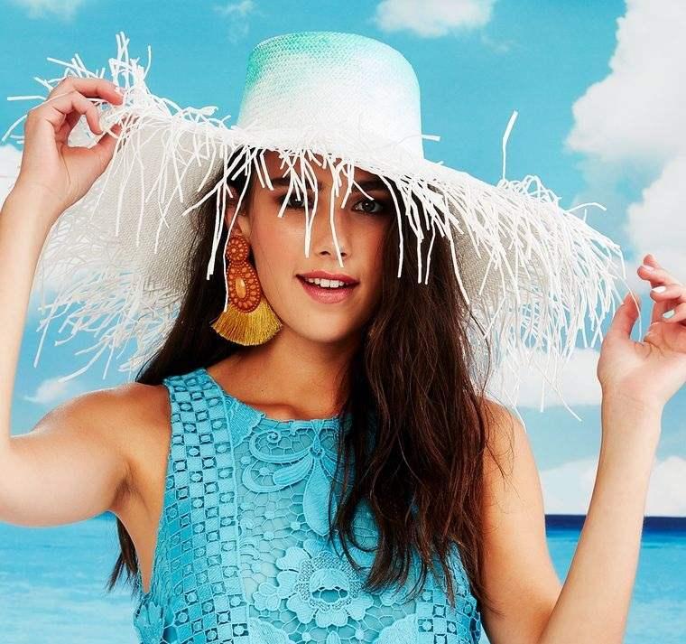 sombreros de verano con flecos