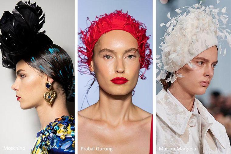 sombreros de verano con plumas