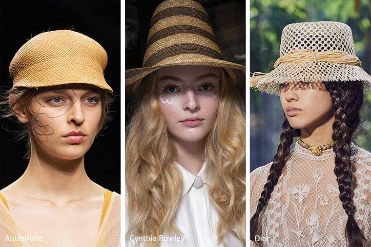 sombreros de verano de paja