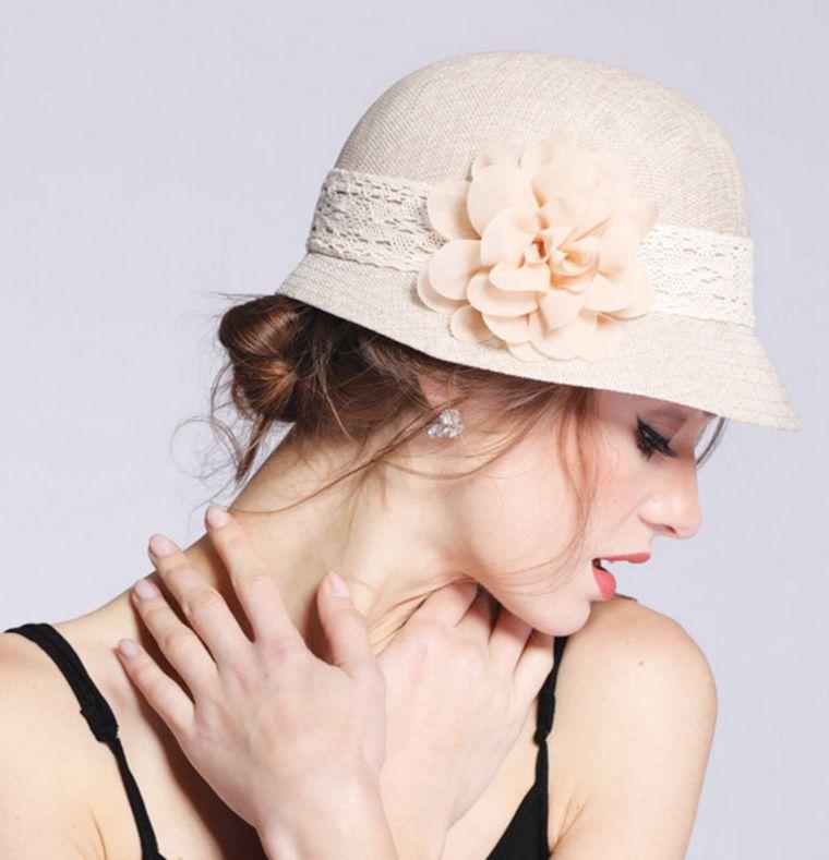 sombreros de verano estilo cloche