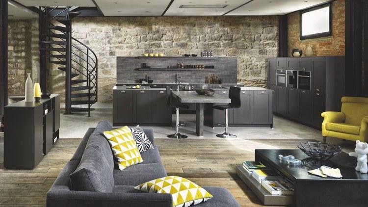 Diseño de cocinas modernas-colores-oscuros