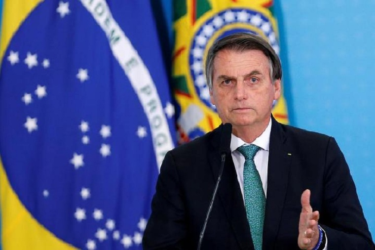 El presidente de Brasil Jair Bolsonaro covid-19