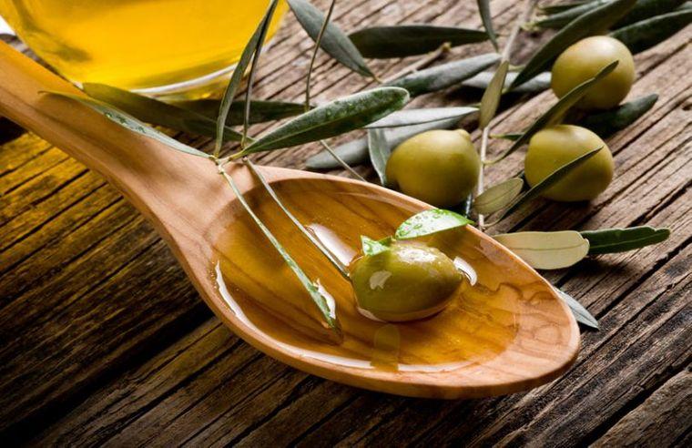 aceite de oliva en comida