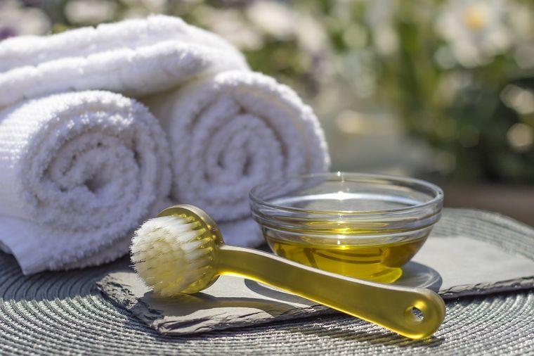 aceite de oliva exfoliar rostro