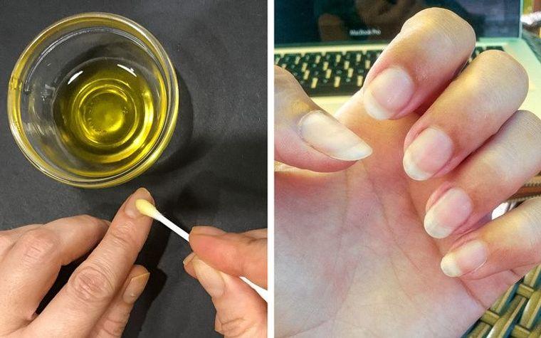 aceite de oliva uñas