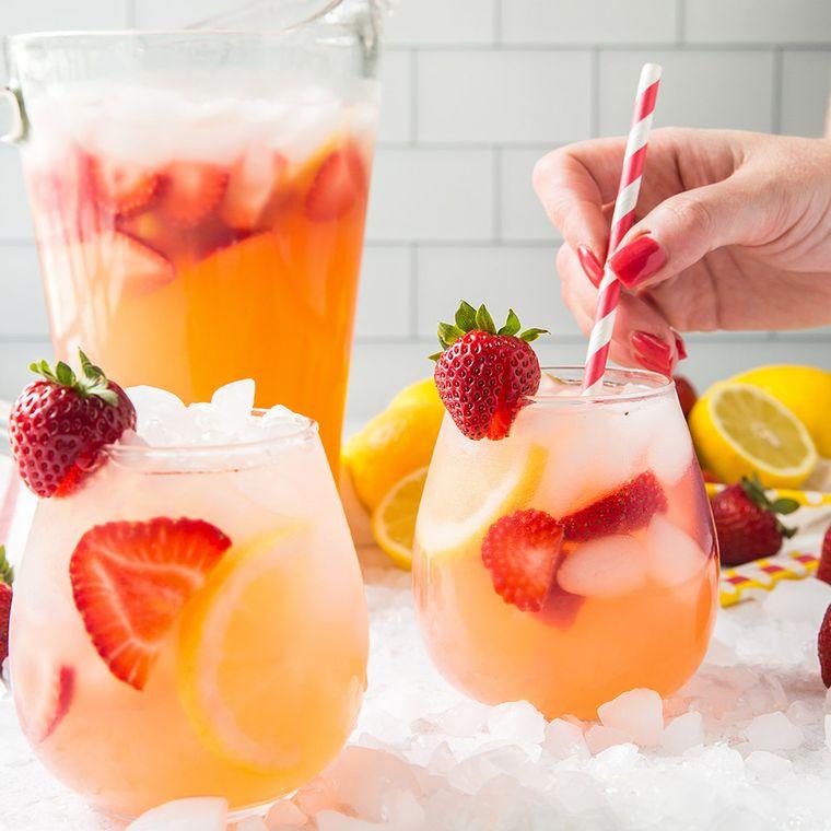 bebidas refrescantes fresa limon