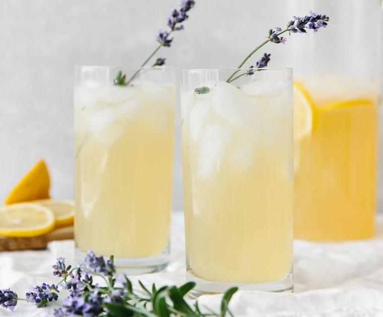 bebidas refrescantes lavanda