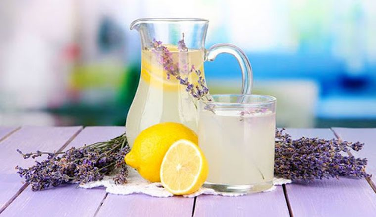bebidas refrescantes limon lavanda