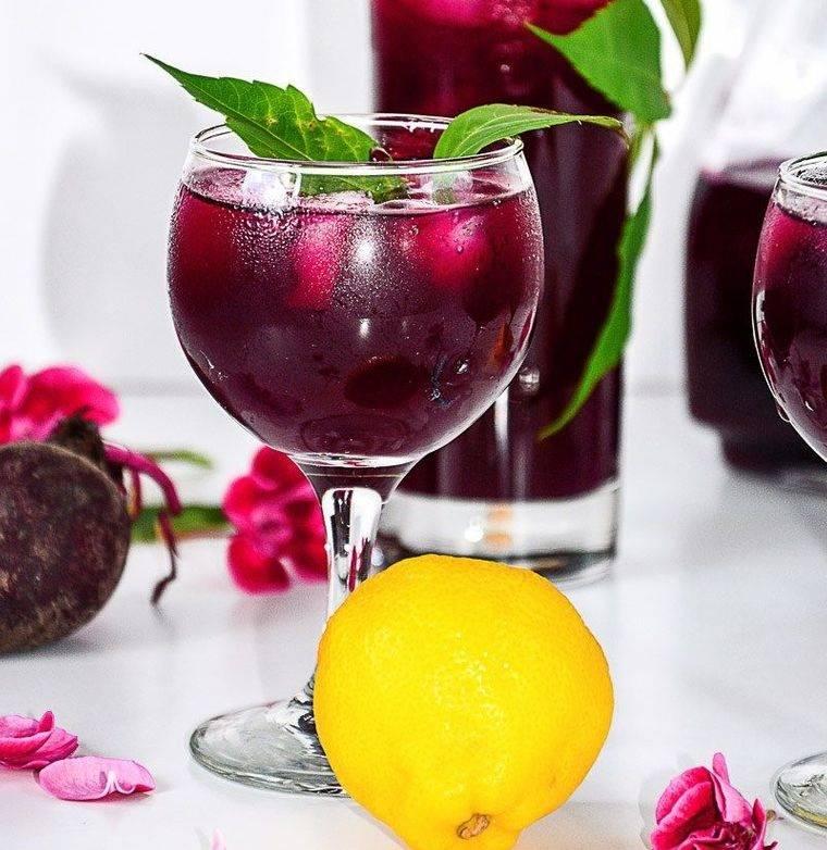 bebidas refrescantes limon remolacha