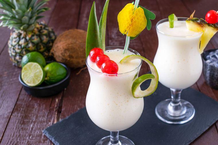 bebidas refrescantes piña coladas