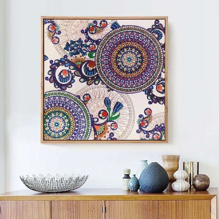 decoración con mandalas adorno