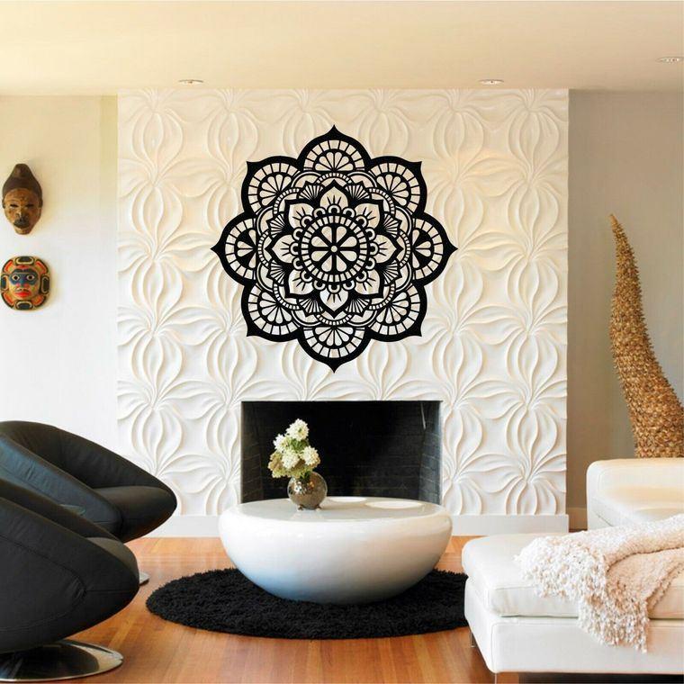 decoración con mandalas chimenea