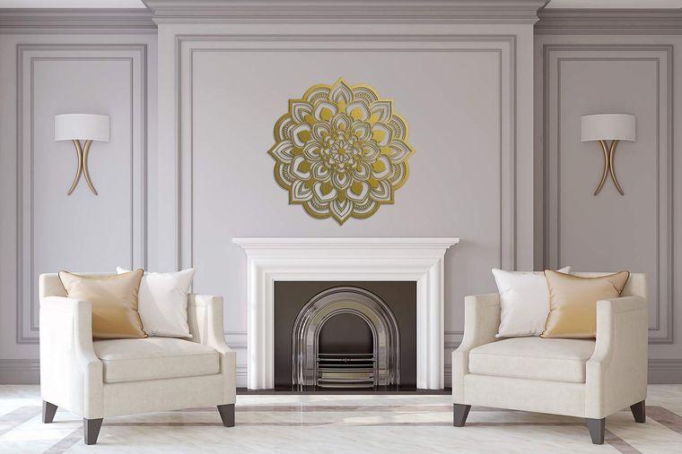 decoración con mandalas con dorado