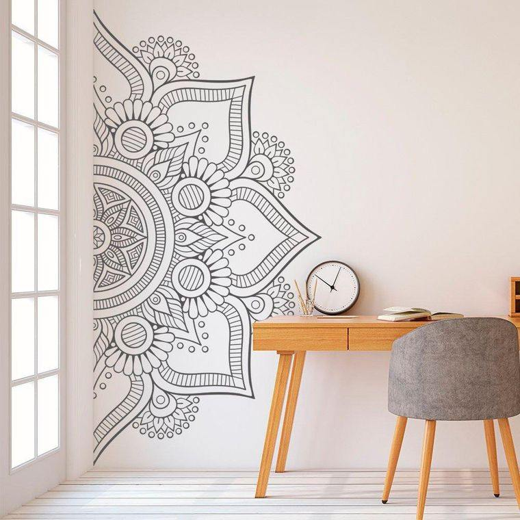 decoración con mandalas dibujo
