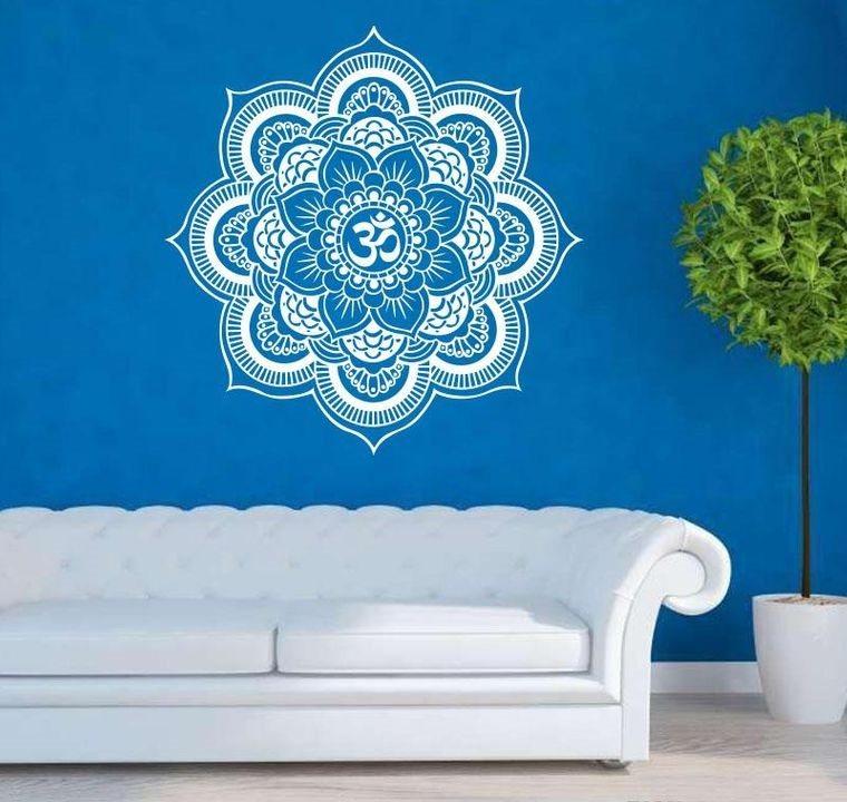 decoración con mandalas en azul