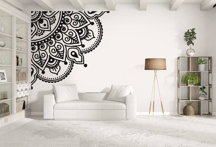 decoración con mandalas esquina pared