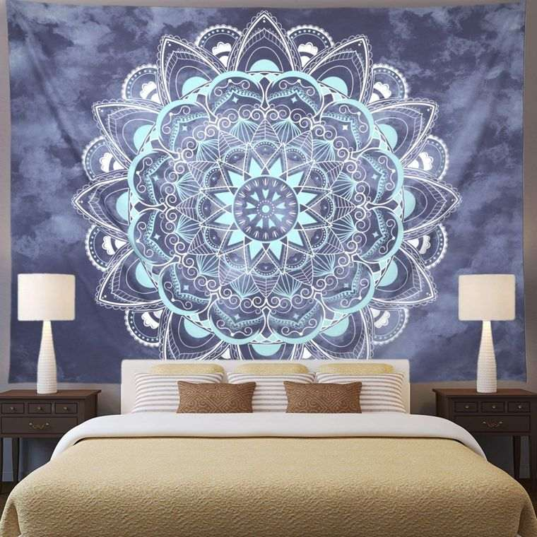 decoración con mandalas pared dormitorio
