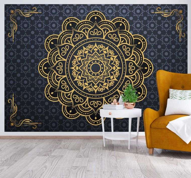 decoración con mandalas pared