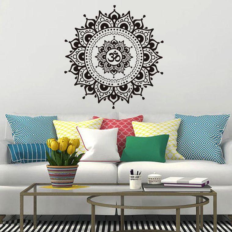 decoración con mandalas sala